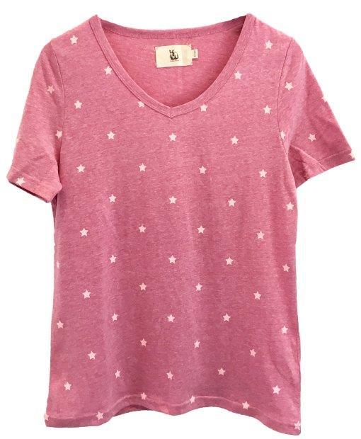 Mini start cotton t shirt plum