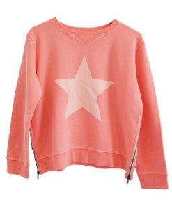 Zip sweater peach star