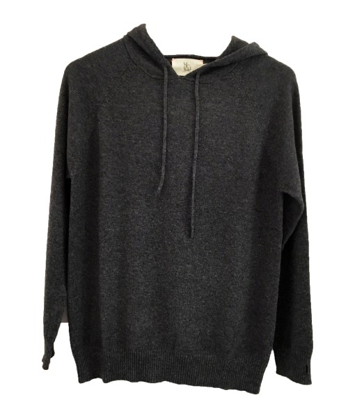 Cashmere Hoodie - Charcoal Grey