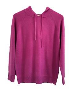 Cashmere Hoodie - Fuchsia Pink