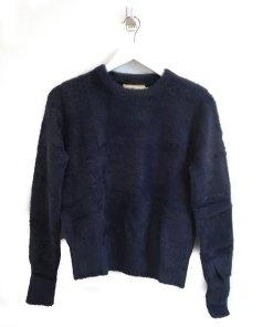 Fluffy Crew Neck Sweater