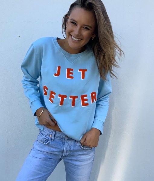 jetsetter sweater baby blue
