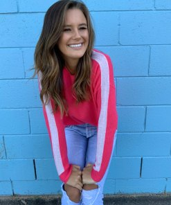 watermelon & oatmeal sweater