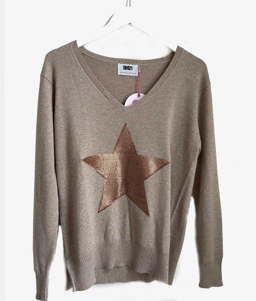 cotton cashmere vneck sweater