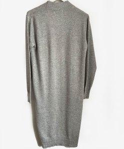 Cotton cashmere grey cardigan