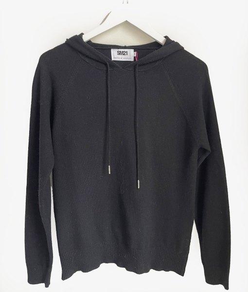 black hoodie with star