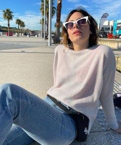 silver metallic star sweater