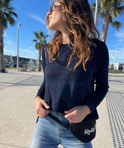 navy metallic star sweater