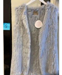 Fur vest grey