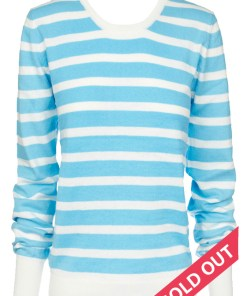 blue and white stripe sweater