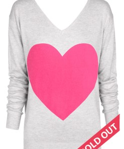 light grey with pink heart