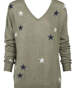 khaki with stars sweater