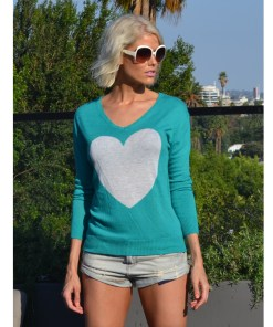 Jade & Frost Heart Sweater