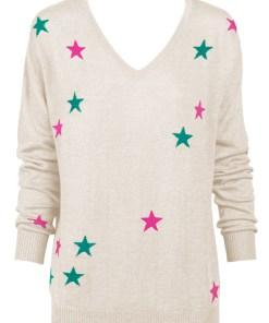 Oatmeal Marle Stars Sweater