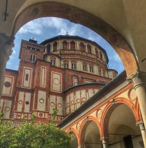 Santa Maria delle Grazie dove è conservata l'Ultima Cena di Leonardo