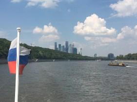 Mosca. In battello sulla Moscova