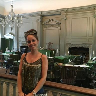 Philly, Independence Hall, la stanza dove è stata firmata la Costituzione