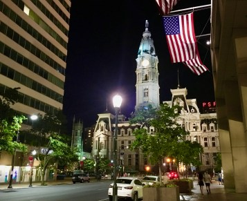 Philly City Hall by night