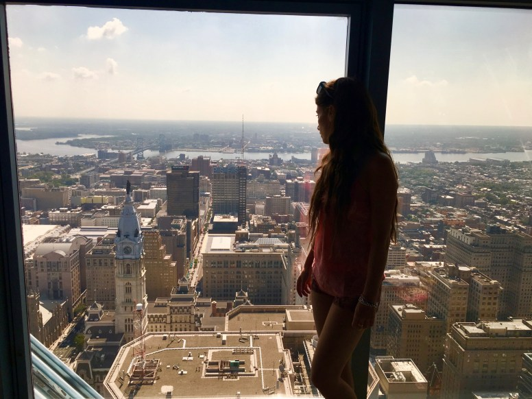 Il City Hall dal One Liberty Observation deck