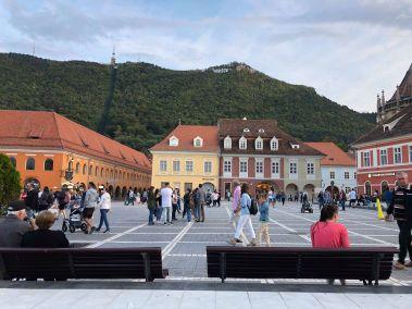 La piazza centrale di Brașov