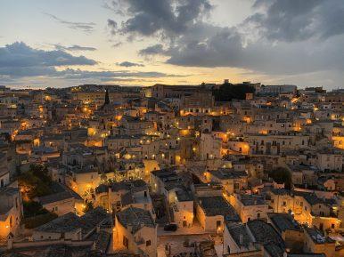 Matera, Sasso Barisano al tramonto