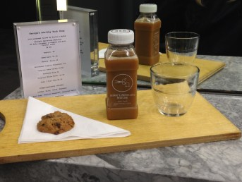 Refreshments c/o George's Mum & 'George's Marvelous Medicine' cold pressed juice by Roots & Bulbs