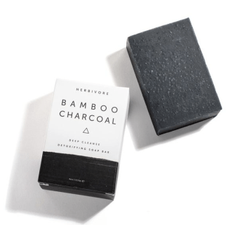 http://www.woodgrey.com/collections/apothecary/products/bamboo-charcoal-cleansing-soap-bar-herbivore-botanicals