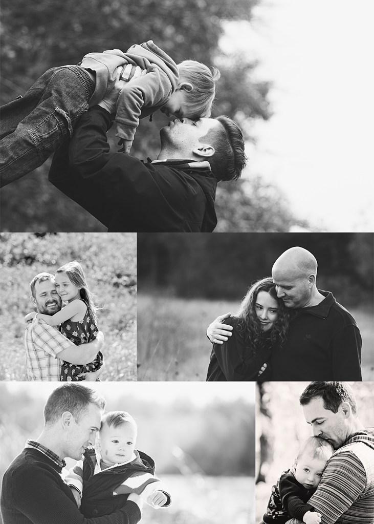 photos with daddy black & white