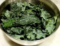 chopped black kale