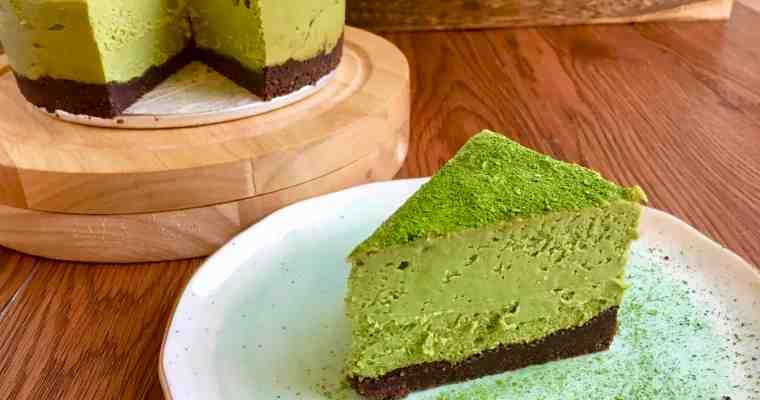生酮抹茶起司蛋糕 Keto Matcha Cheesecake-淨碳水3g-無糖無麩質
