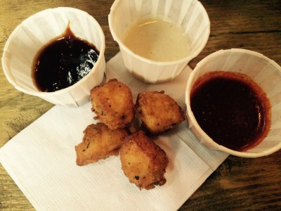 'Not chicken nuggets' Halloumi bites
