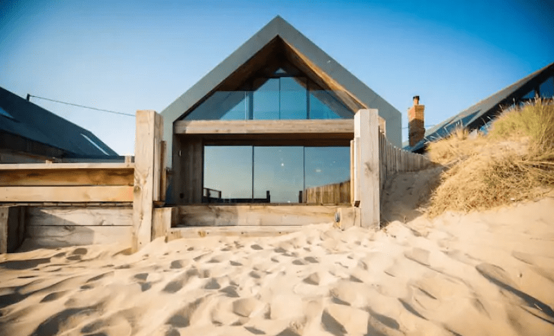 unique airbnb stays uk blue house