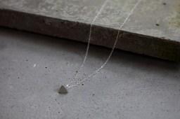 Fine silver pendant on silver chain