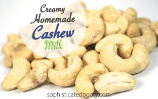 Creamy Homemade Cashew Milk