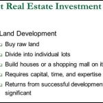 Real Estate; Raw Land Investment