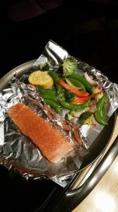 Salmon & Veggies in the oven
