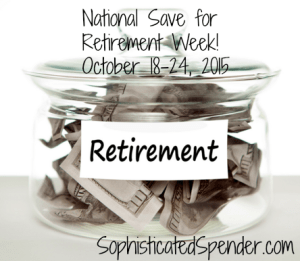 national save for retirement week 2015
