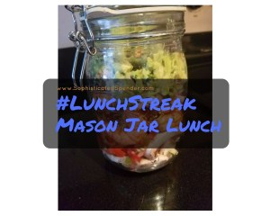 mason, jar, lunch, lunch streak, monday motivation