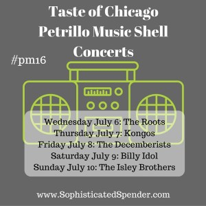 taste of chicago, the roots, billy idol, 2016, music, concert, schedule, isley brothers