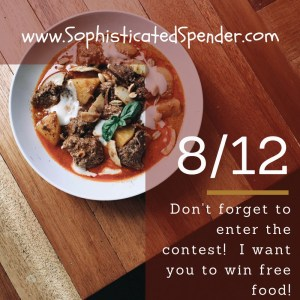 Don't forget to enter the contest! I want you to win free food! (1)