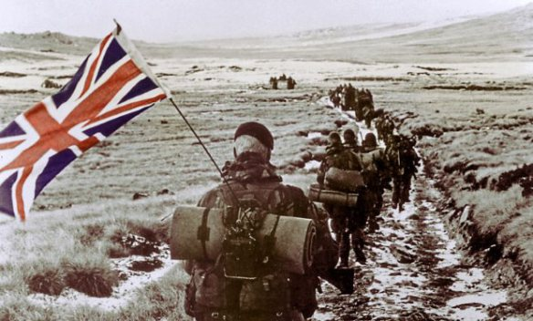 British Soldiers in Falklands War