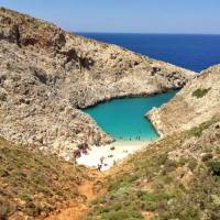 Secret Beach in Souda Bay, Greece