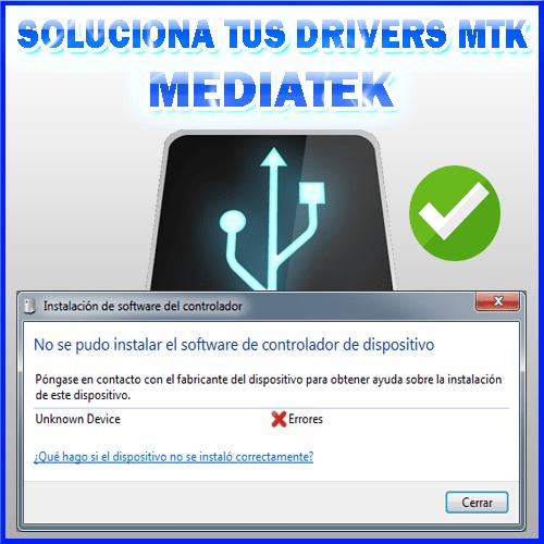 Como instalar drivers mtk 2017 En cualquier windows