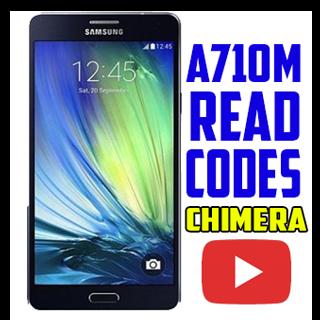 samsung a710 lectura de códigos de liberación con chimeratool