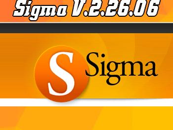 Actualización Sigma Software v.2.26.06