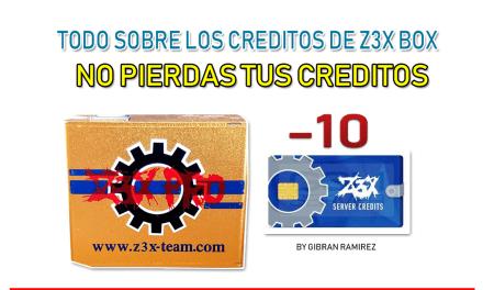 Creditos de Z3X box | como no perderlos