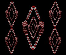 Tableware design inspired by the beadwork of the Xhosa tribe