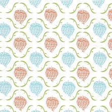 Leaf design with geometric motifs