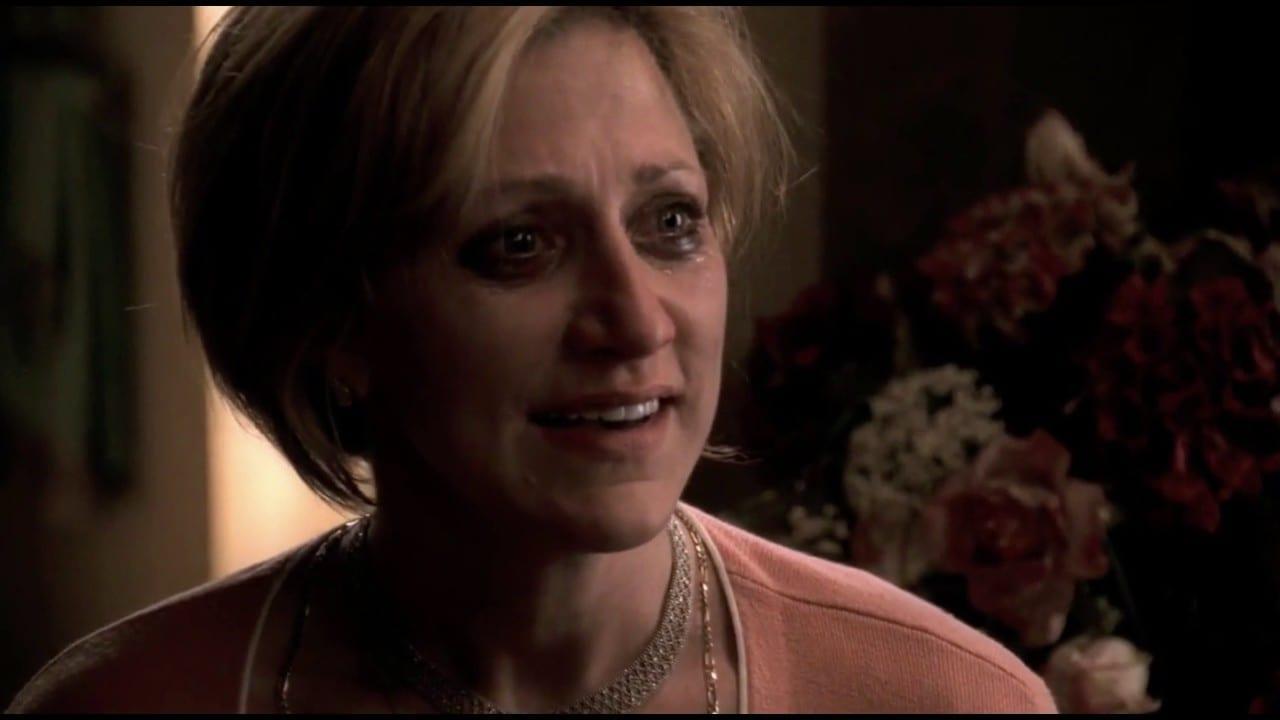 Carmela fighting with Tony in the Whitecaps episode