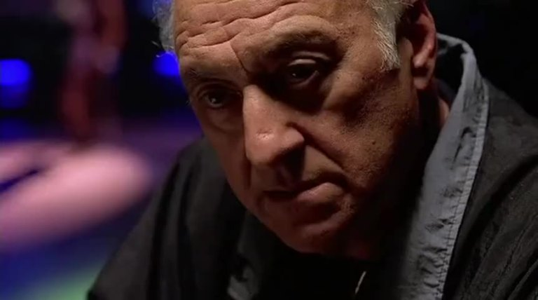 Hesh Rabkin talking to the wise guys at the Bada Bing in The Sopranos Pilot